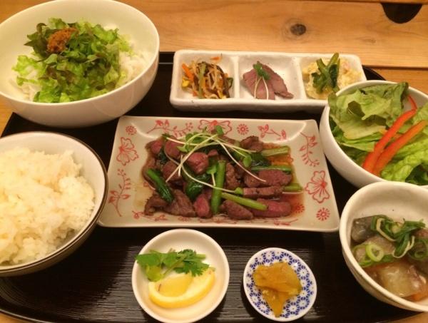 鹿と小松菜のオイスター炒め セット
